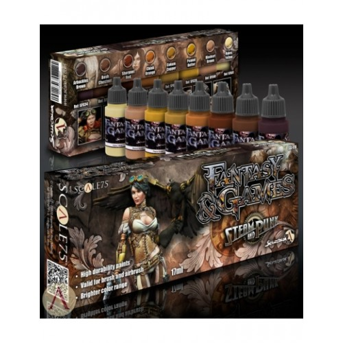 Fantasy and Games Steam and Punk Paint Set