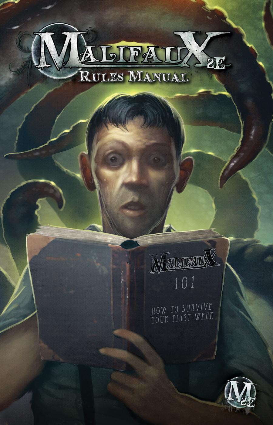 Okładka podręcznika z zasadami do gry figurkowej Malifaux.